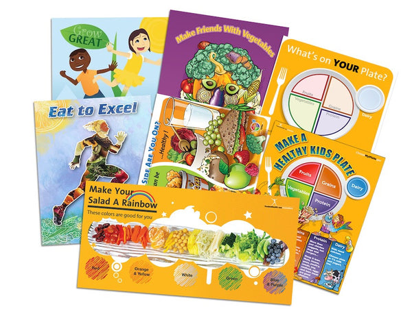 7 Elementary School Nutrition Posters In Value Set - Nutrition Education Store