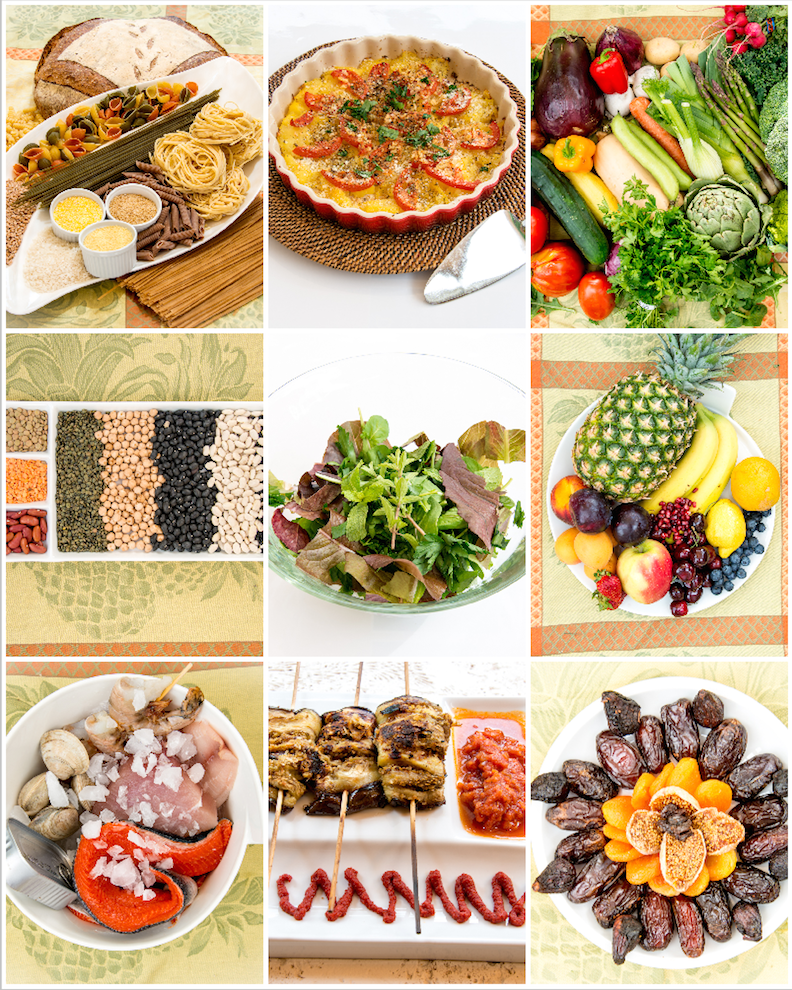 "Mediterranean Diet 9 Photo Montage Print 16""X20"" - Nutrition Education Store"