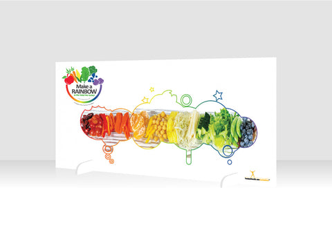 "Eat from the Rainbow With Chef Ann Foundation 12"" x 36"" Salad Bar Sign or Standing Table Sign"