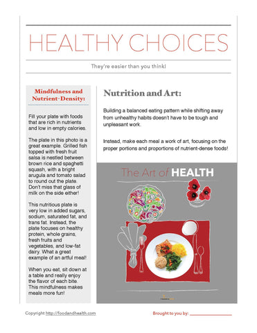 "Art of Health Bulletin Board Banner 24"" x 24"" Square Banner for Bulletin Boards, Walls, and More - Nutrition Education Store"