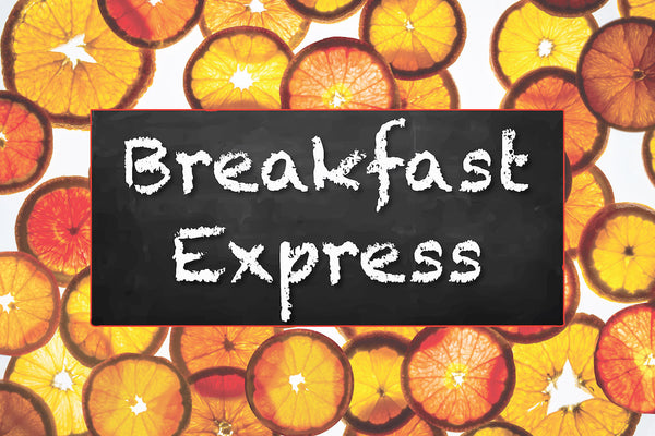 "Breakfast Express - School Breakfast Bar - Banner 36"" X 24"" Vinyl - Nutrition Education Store"