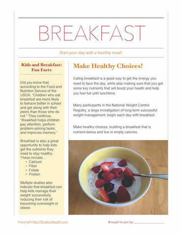 Start Your Day With Breakfast Poster