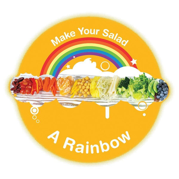 "Make Your Salad A Rainbow Buttons 3"" - Pack of 10"