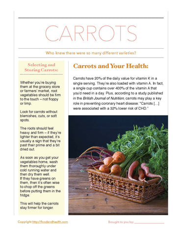"Carrots 24"" Square Banner for Bulletin Boards and Walls - Nutrition Education Store"