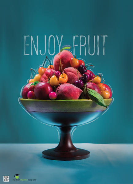 Tree Fruit Poster - Enjoy Fruit - Nutrition Poster - Food Photo Poster