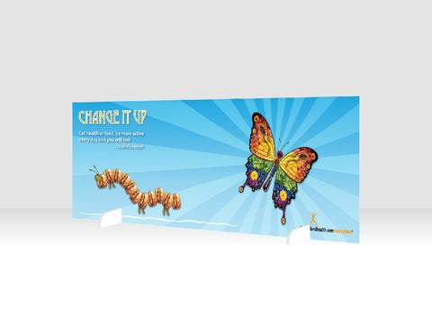"Change It Up 12"" x 36"" Salad Bar Sign or Standing Table Sign - Nutrition Education Store"
