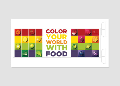 "Color Your World 12"" x 36"" Salad Bar Sign or Standing Table Sign"