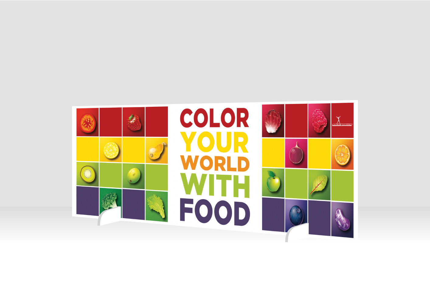 "Color Your World 12"" x 36"" Salad Bar Sign or Standing Table Sign - Nutrition Education Store"