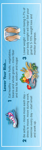 "Diabetes Risk Bookmark 2"" X 7"" Pack of 50 - Nutrition Education Store"