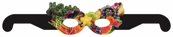 Fruit and Vegetable Mask - 25-Pack - Wellness Fair Prize Health Promotion Incentive - for Colors, Farm, Change It Up, Grows, Excel themes or any theme!