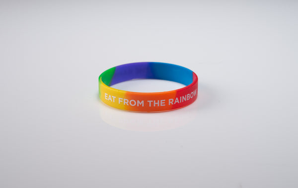 "Eat From The Rainbow Wristband 8"" Adult - 20 pack"