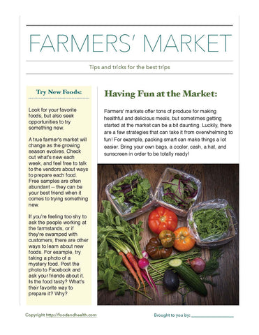 "Farmer's Market Bounty 24"" Square Banner for Bulletin Boards and Walls"