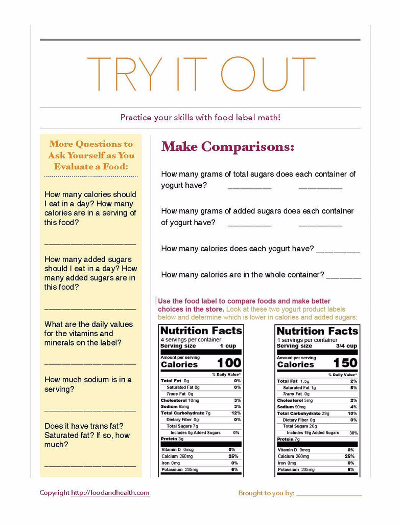 food label math poster 16 15 nutrition education store