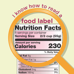 "New Food Label Stickers 2"" - Pack of 100"