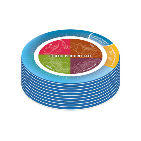 Portion Control Plate for Diet and Exercise Success 50 Pack - Nutrition Education Store