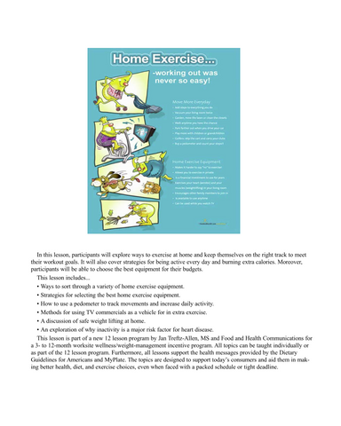 Holiday Exercise Poster