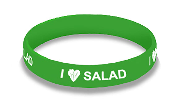 I Love Salad Wristbands Adult - Pack of 20
