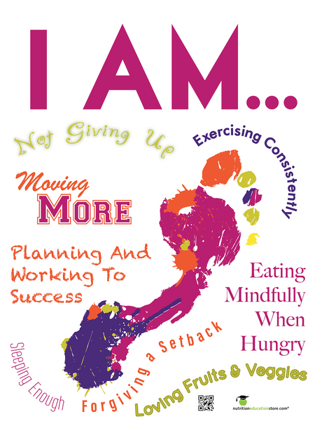 I Am - Motivational Health Poster - Nutrition Education Store