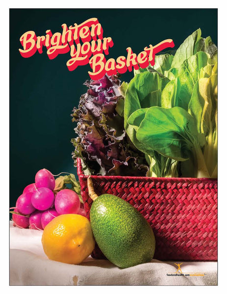 "Brighten Your Basket 18"" x 24"" Laminated Nutrition Poster - Motivational Poster - Nutrition Education Store"