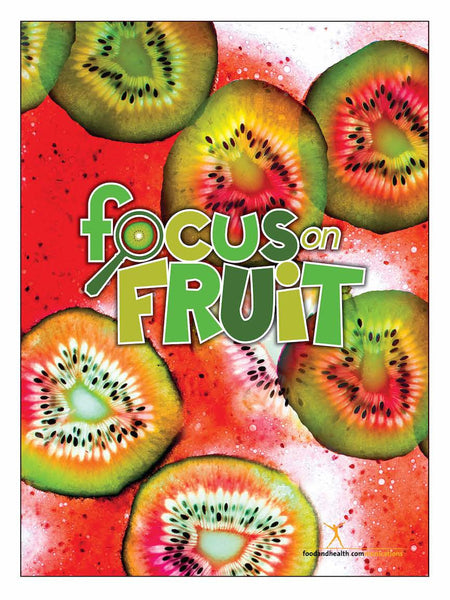 "Focus on Fruit 18"" x 24"" Laminated Nutrition Poster - Motivational Poster"