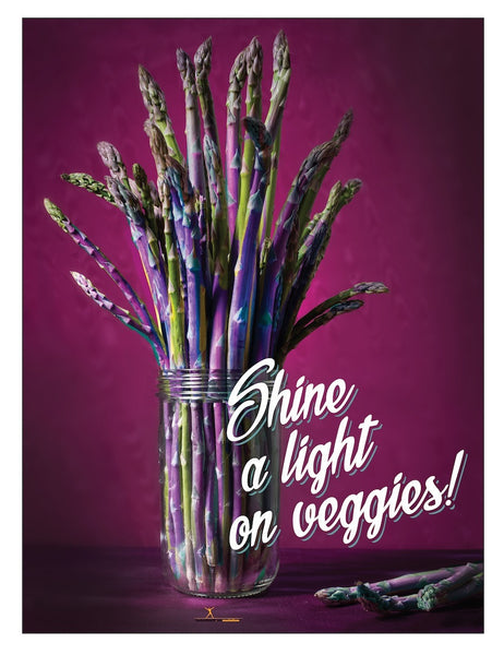 "Shine A Light on Veggies 18"" x 24"" Laminated Color Nutrition Poster"