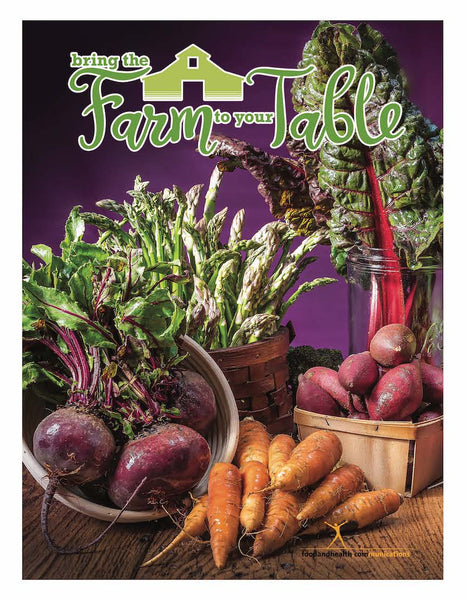 "Bring the Farm to Your Table 18"" x 24"" Laminated Nutrition Poster - Motivational Poster"