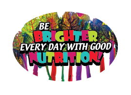 "3"" x 2"" Big Oval Nutrition Stickers ""Be Brighter Every Day With Good Nutrition"" Rainbow Chard"