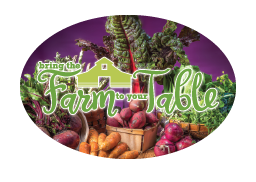"3"" x 2"" Big Oval Nutrition Stickers ""Bring the Farm to the Table"""