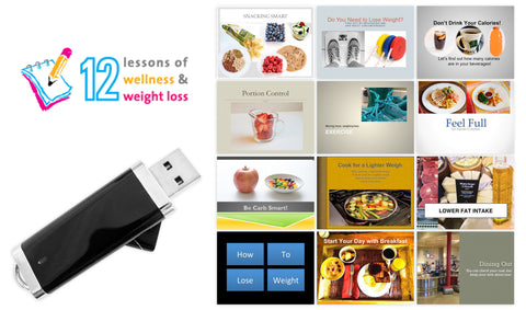 12 Lessons Wellness and Weight Loss Program on Flash Drive