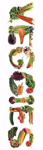 "Fruit and Vegetable Bookmarks pack of 50 2""X7"""