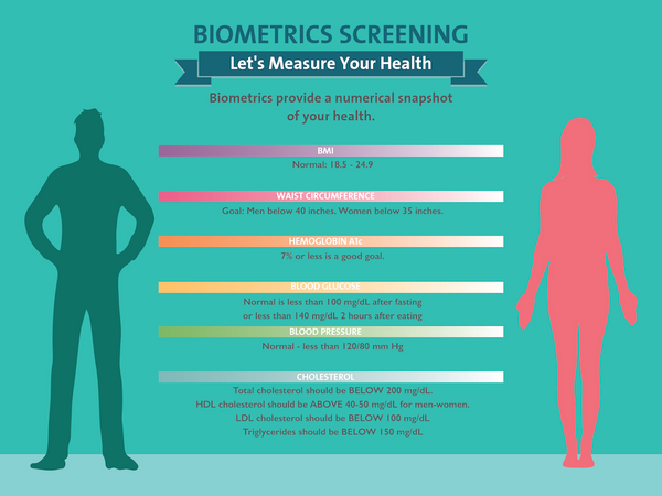 "Measuring Your Biometrics - 48"" x 36"" Banner - Health Fair Banner"