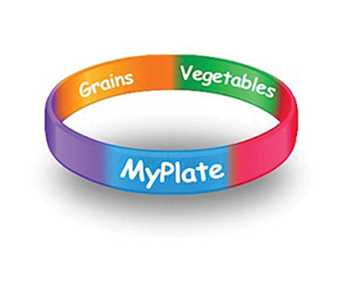 MyPlate Wristbands Child for Little Kids - Pack of 20 - Nutrition Education Store