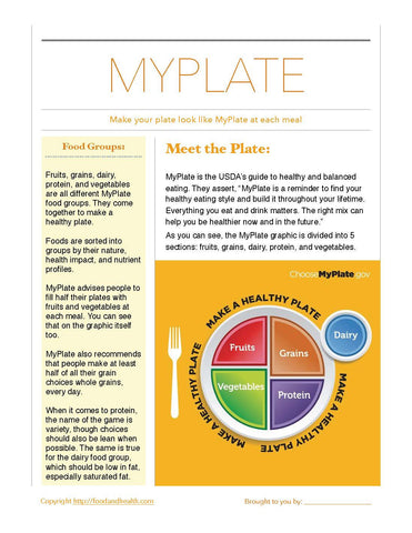 "MyPlate Bulletin Board Banner 24"" x 24"" Square Banner for Bulletin Boards, Walls, and More - Nutrition Education Store"