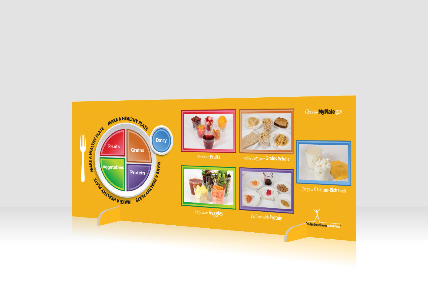 "MyPlate 12"" x 36"" Salad Bar Sign or Standing Table Sign - Nutrition Education Store"