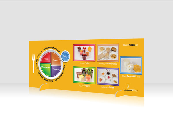 "MyPlate 12"" x 36"" Salad Bar Sign or Standing Table Sign"