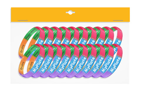 MyPlate Wristbands Adult - Pack of 20