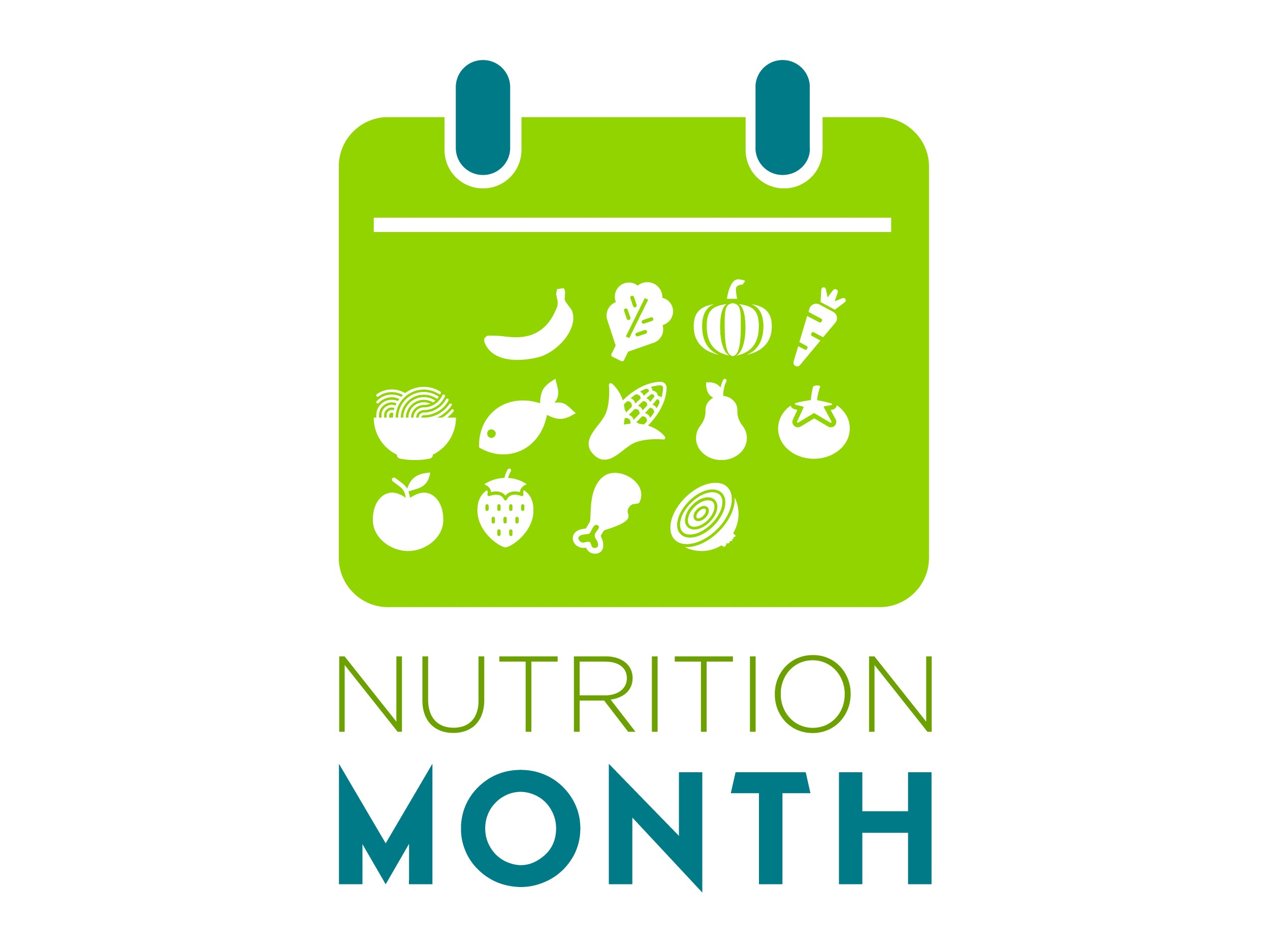 "Custom Nutrition Month Icon Banner 48"" X 36"" - Add Your Logo To This Health Fair Banner - Nutrition Education Store"
