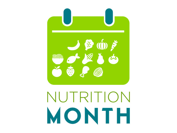"Custom Nutrition Month Icon Banner 48"" X 36"" - Add Your Logo To This Health Fair Banner"