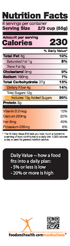 "New Food Label Bookmarks Pack of 50 2""X7"" - Nutrition Education Store"