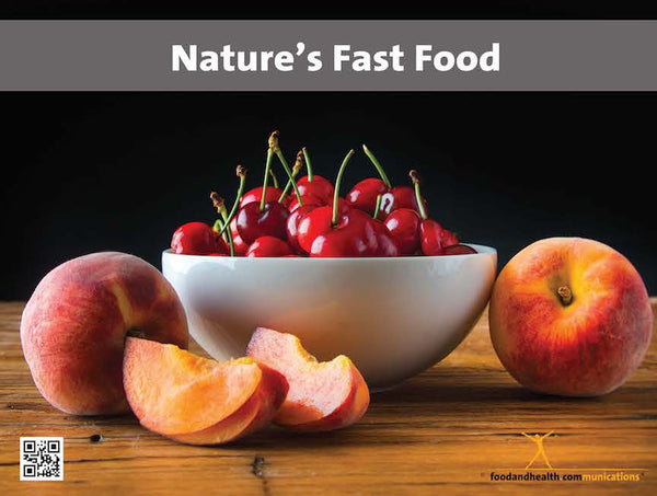 Nature's Fast Food Poster - Peaches and Cherries Food Photo Poster - Motivational Poster