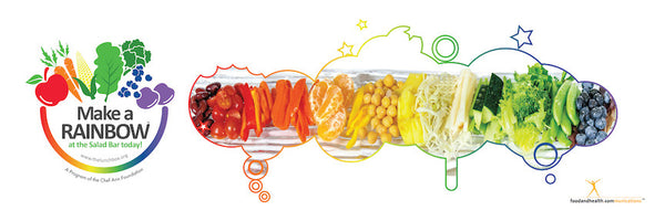 "Eat from the Rainbow With Chef Ann Foundation 24"" x 72"" Vinyl Banner - Nutrition Education Store"
