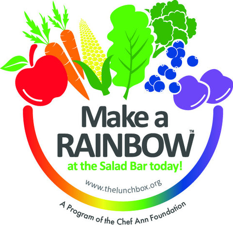 "Custom Eat from the Rainbow With Chef Ann Foundation 48"" x 36"" Vinyl Banner - Add Your Logo To This Health Fair Banner - Nutrition Education Store"