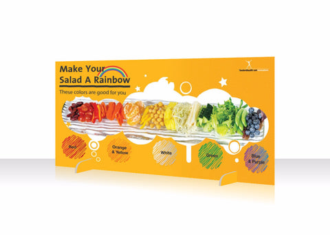 Rainbow Salad Bar Sign - Standing Table Sign 18x36 - Nutrition Education Store