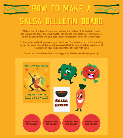 Dance With Your Veggies They Are Great At The Salsa 12X18 Poster - Nutrition Education Store