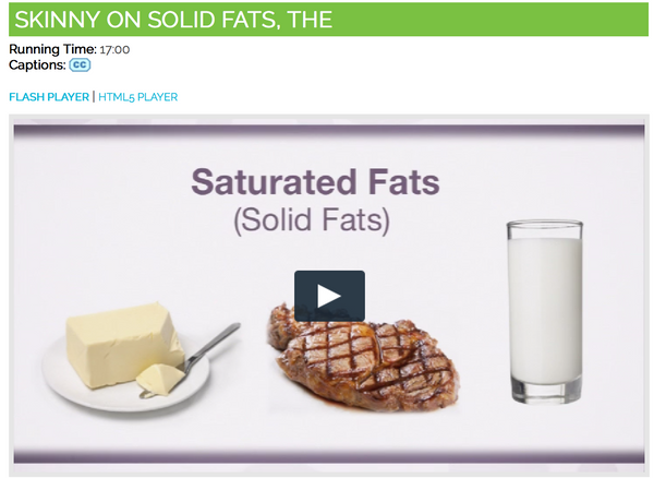Skinny on Solid Fats DVD - Nutrition Education DVD