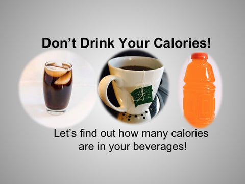 Don't Drink Your Calories PowerPoint and Handout Lesson