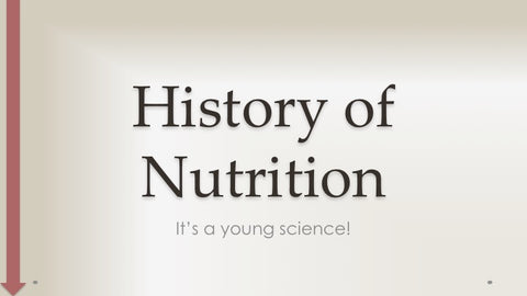 History of Nutrition - PowerPoint - DOWNLOAD - Nutrition Education Store
