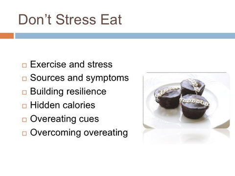 Stress Eating and Food Cravings PowerPoint and Handout Lesson - DOWNLOAD - Nutrition Education Store