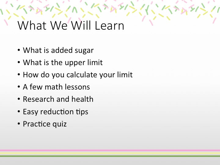sugar math powerpoint show download now ppt with speaker s notes