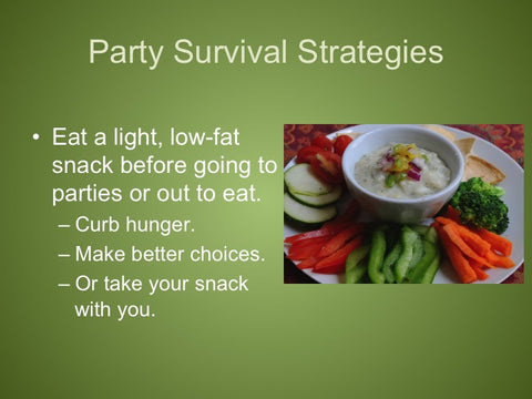 Holiday Survival: Keep Off the Pounds PowerPoint and Handout Lesson - DOWNLOAD
